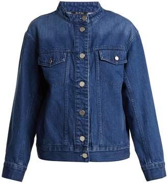 A.P.C. Bailey collarless oversized denim jacket