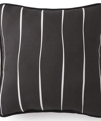 "Colcha Linens Toile Back In Black Square Pillow 20""x20"" - Striped Bedding"