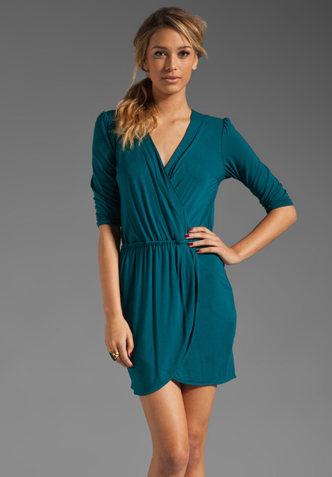 Plenty by Tracy Reese Solid Jersey Surplice Dress