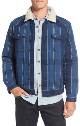 Surfside Supply Co. Faux Shearling Lined Plaid Shirt Jacket $165 thestylecure.com