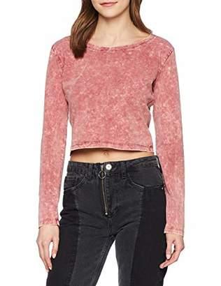 9e708501a15 Urban Classic Women s Ladies Cropped Acid Wash L s T-Shirt