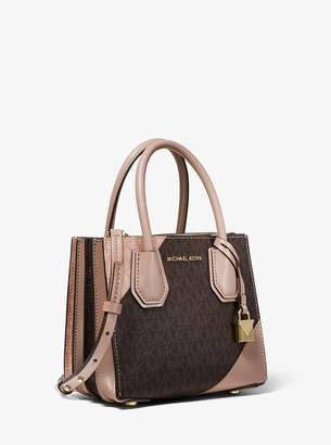 MICHAEL Michael Kors Mercer Two-Tone Logo and Leather Accordion Crossbody Bag