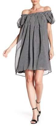 Max Studio Off-the-Shoulder Chiffon Dress