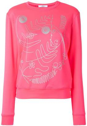 Area printed sweatshirt