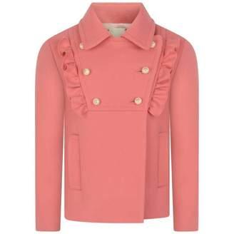 Gucci GUCCIGirls Pink Wool Coat
