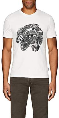 Just Cavalli MEN'S CAT-PRINT COTTON T-SHIRT