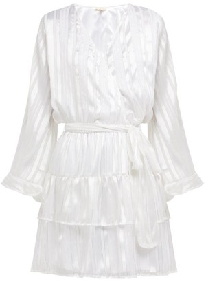 Melissa Odabash Hansen Striped Chiffon Mini Dress - Womens - White