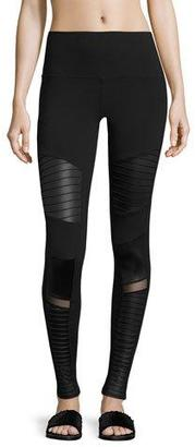 Alo Yoga Moto High-Waist Sport Leggings, Black $114 thestylecure.com