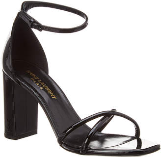 Saint Laurent Loulou Crisscross 90 Patent Sandal