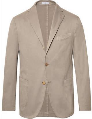 Boglioli Stone Slim-fit Unstructured Stretch-cotton Drill Suit Jacket - Stone