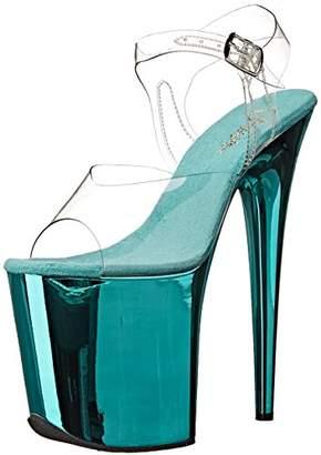 Pleaser USA FLAM808/C/TECH Women's Platform Dress Sandal