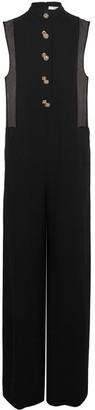 Lanvin - Chiffon-paneled Embellished Crepe De Chine Jumpsuit - Black $3,855 thestylecure.com