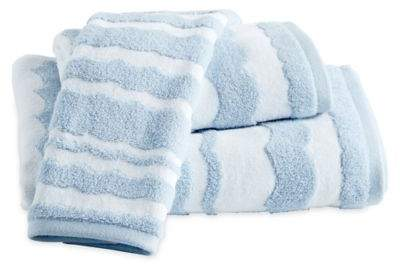 Destinations Wave Scallop Hand Towel in Blue