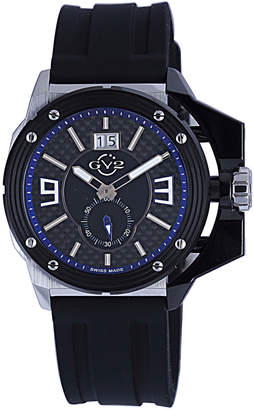 Gv2 Men's Swiss Quartz Grande Black Rubber Strap Watch