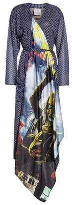 Vetements Mixed Print Robe Dress