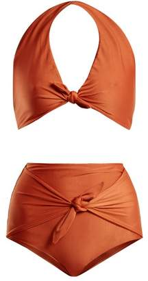 Riviera Adriana Degreas Halterneck Bikini - Womens - Bronze