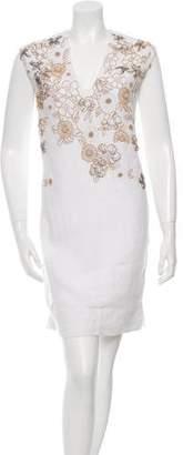 Megan Park Amaryllis Floral Embellished Dress w/ Tags