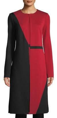 St. John Slanted Colorblock Milano Knit Topper Jacket
