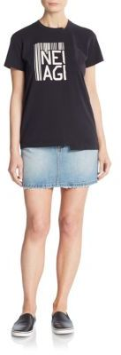 Icon Denim Mini Skirt $178 thestylecure.com