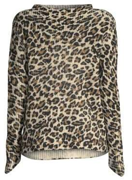 Generation Love Asymmetric Leopard Sweater