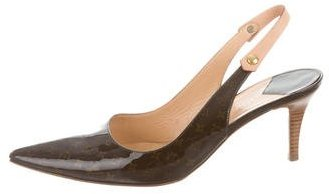 Louis Vuitton Monogram Slingback Pumps