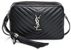 Saint Laurent Medium Lou Chain Strap Quilted Leather Satchel