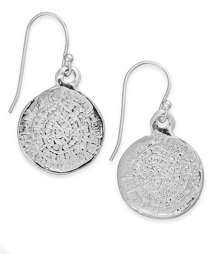 Studio Silver Sterling Silver Earrings, Medallion Drop Earrings
