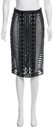 Kokon To Zai Embellished Knee-Length Skirt