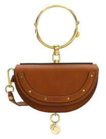 Chloé Nile Half Moon Leather Minaudiere