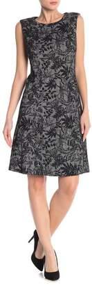 Nine West Sleeveless Fit & Flare Jacquard Dress