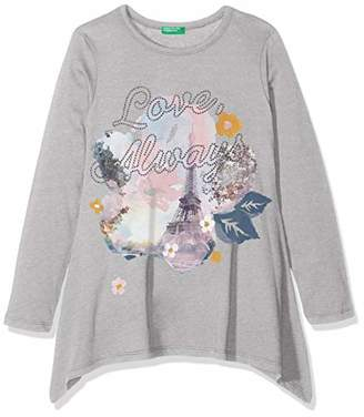 Benetton Girl's L/s T-Shirt,(Manufacturer Size: Small)