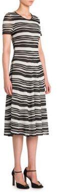Giorgio Armani Striped Knit Dress $2,995 thestylecure.com