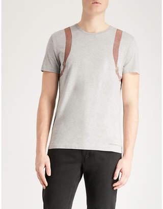 Alexander McQueen Backpack-print cotton-jersey T-shirt