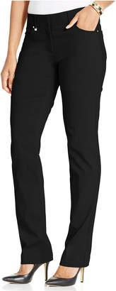 JM Collection Curvy-Fit Slim-Leg Pants, Only at Macy's $49.50 thestylecure.com