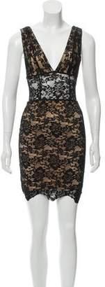Nightcap Clothing Decollete Mini Bodycon Dress w/ Tags