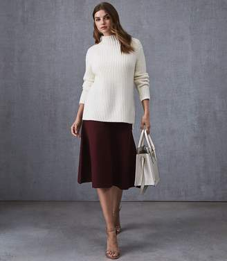 Reiss Our last order date for Christmas has now passed AMY FLUTED HEM SKIRT Berry
