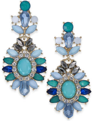 INC International Concepts I.N.C. Gold-Tone Stone & Bead Drop Earrings, Created for Macy's