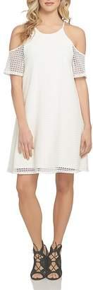 1.STATE Cold-Shoulder Crochet Dress $99 thestylecure.com