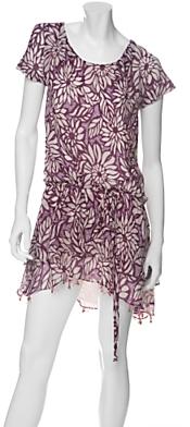 Elizabeth And James Zola Crinkled Chiffon Flutter Dress