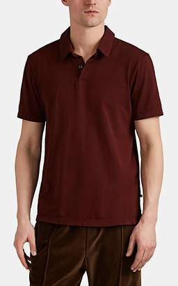 James Perse Men's Sueded Cotton Jersey Short-Sleeve Polo Shirt - Red