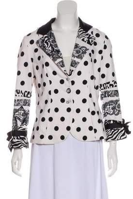 Roccobarocco Printed Long Sleeve Jacket