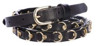 Linea Pelle Narrow Embellished Belt