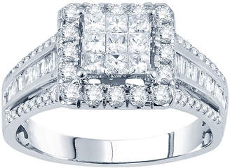 JCPenney MODERN BRIDE 1 CT. T.W. Princess Diamond Deco-Style Engagement Ring