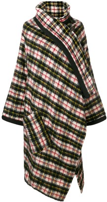 Jean Paul Gaultier Pre-Owned check shawl-collar coat