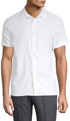 Perry Ellis Men's Point Collar Button-Down Shirt