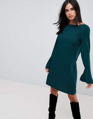 Vila Fluted Sleeve Dress