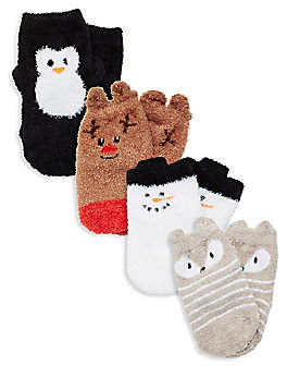 Trumpette Baby's Chilly Holiday Four-Pair Sock Set