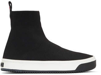 Marc Jacobs Black Logo Dart Sock Sneakers