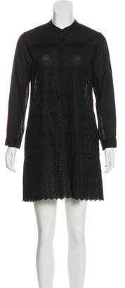Band Of Outsiders Embroidered Mini Dress