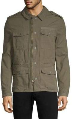 John Varvatos Dragon Garment-Dyed Cotton Jacket